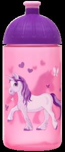 ISYbe Trinkflasche 0,5l Einhorn rosa transparent