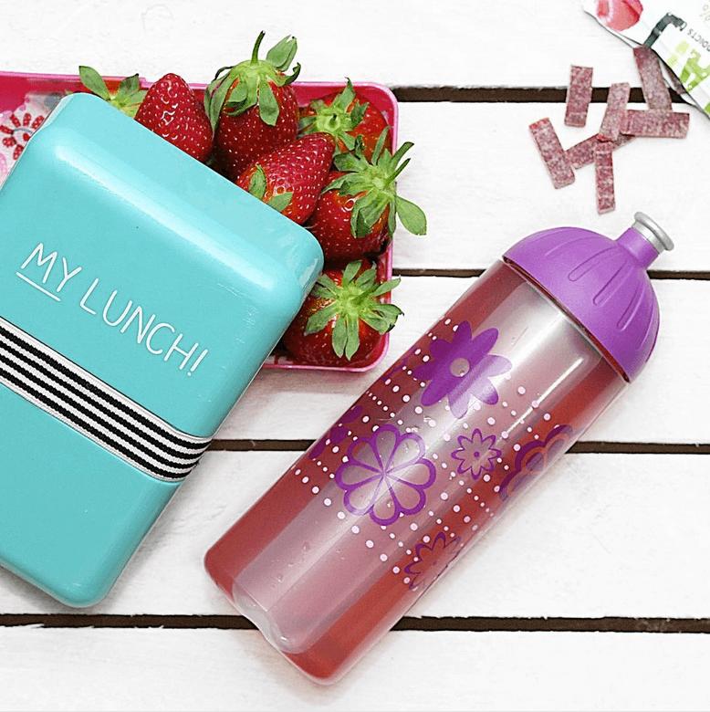 ISYbe Trinkflasche mit Erdbeerbox