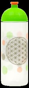 ISYbe Trinkflasche 0,7l Blume des Lebens transparent