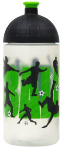 ISYbe Trinkflasche 0,5l Fussball transparent