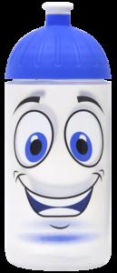 ISYbe Trinkflasche 0,5l Gesicht transparent
