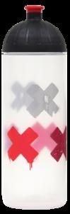 ISYbe Trinkflasche 0,7l Kreuze transparent