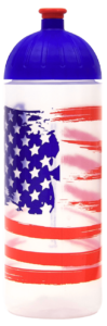 ISYbe Trinkflasche 0,7l US Flagge transparent