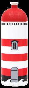 ISYbe Trinkflasche 0,7l Leuchtturm weiss